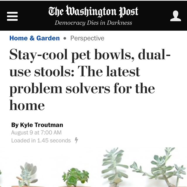 """T    he Washington Post     August 9, 2017   """"Settlewell founder and designer Laura Cornman shaped concrete into small jars that are great for home organization. """"Jars are incredibly useful, but the options are fairly limited to glass, amber glass and plastic,"""" she said. """"I'm always looking for ways to get rid of visual clutter."""""""""""