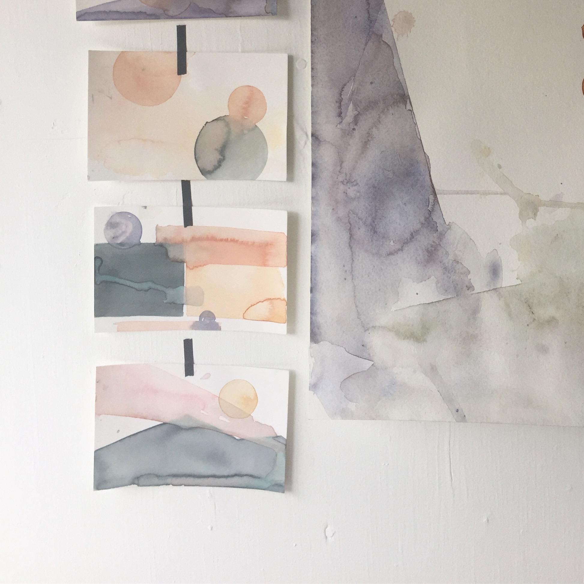watercolor sketches  2016