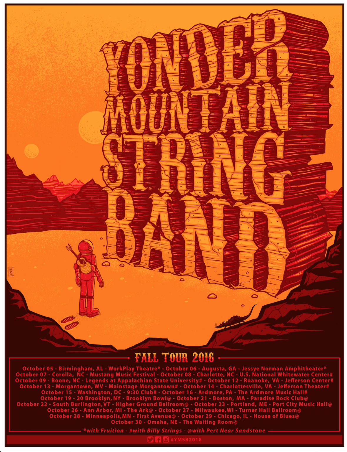 Yonder Mountain String Band has announced the Fall Tour Schedule for October.
