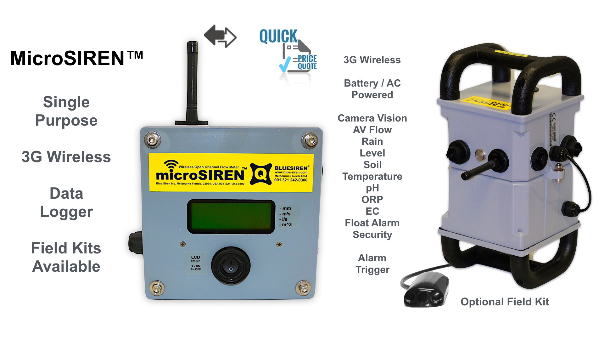 Micro Siren Flow Sensor Options and Inputs