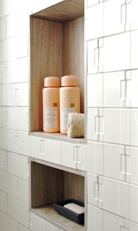 "Walker Zanger Robert A.M. Stern ""Otto"" tile | Bathroom design by Stay Interiors"
