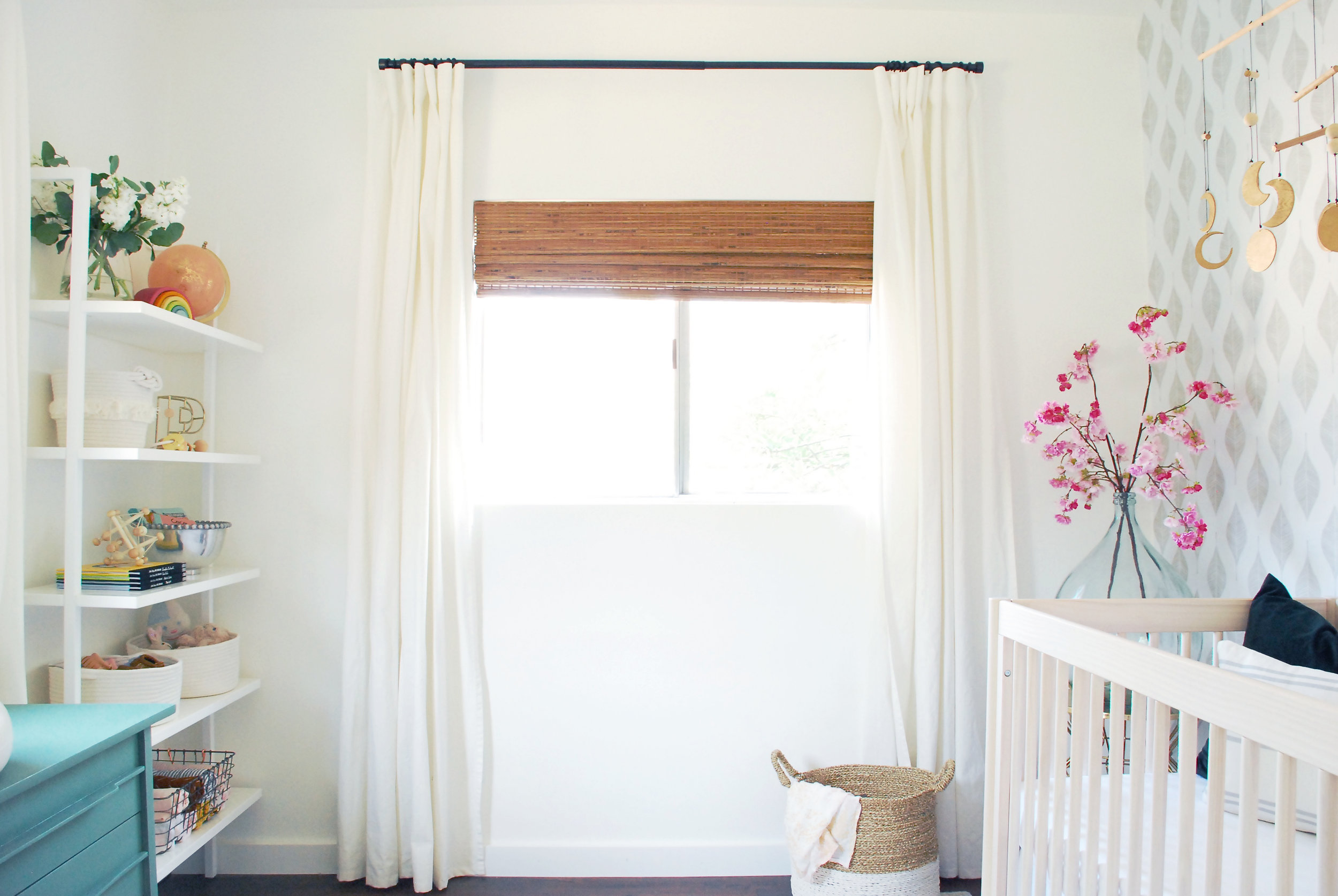Girl's neutral nursery design by Stay Interiors