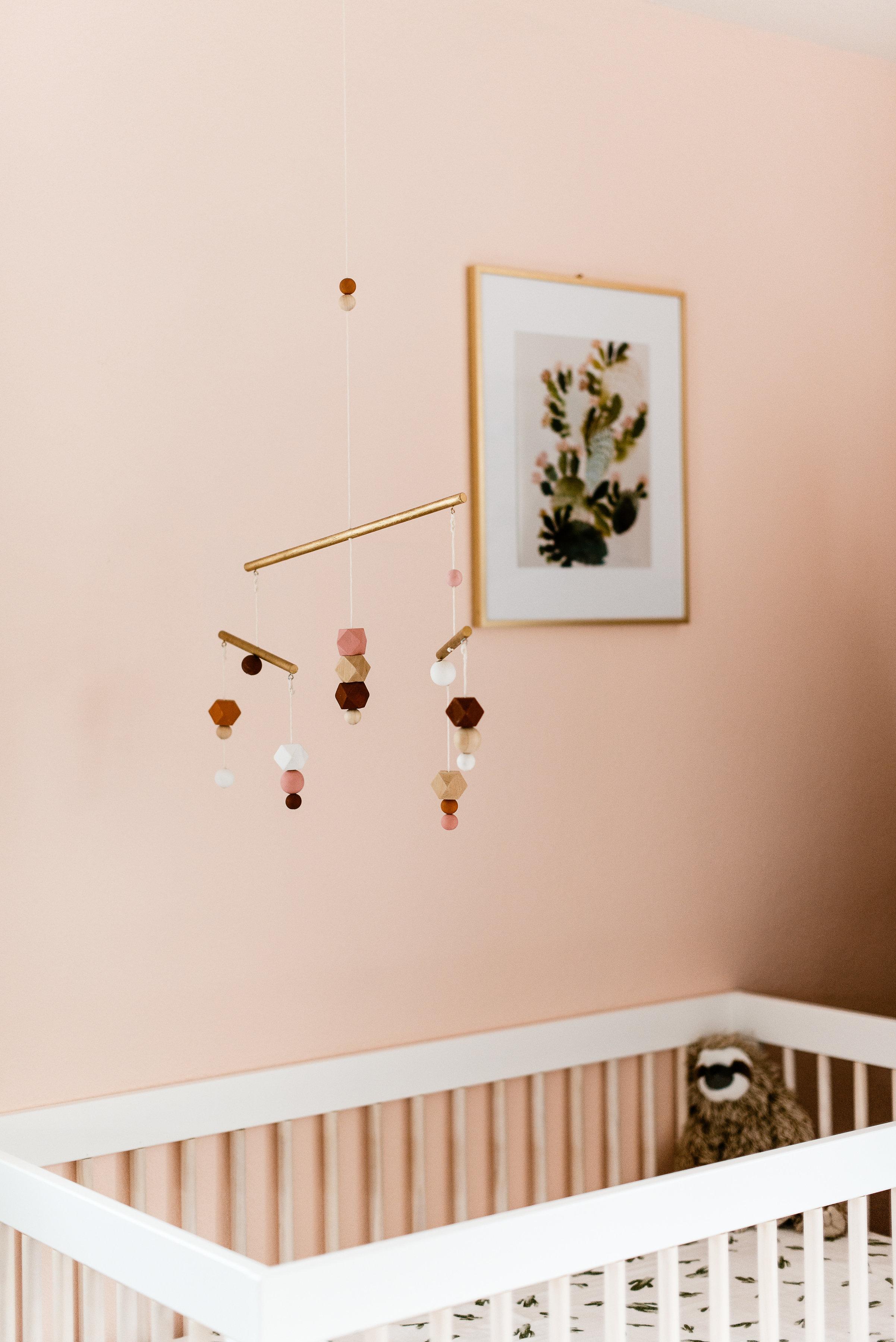 Girl's boho nursery design by Stay Interiors