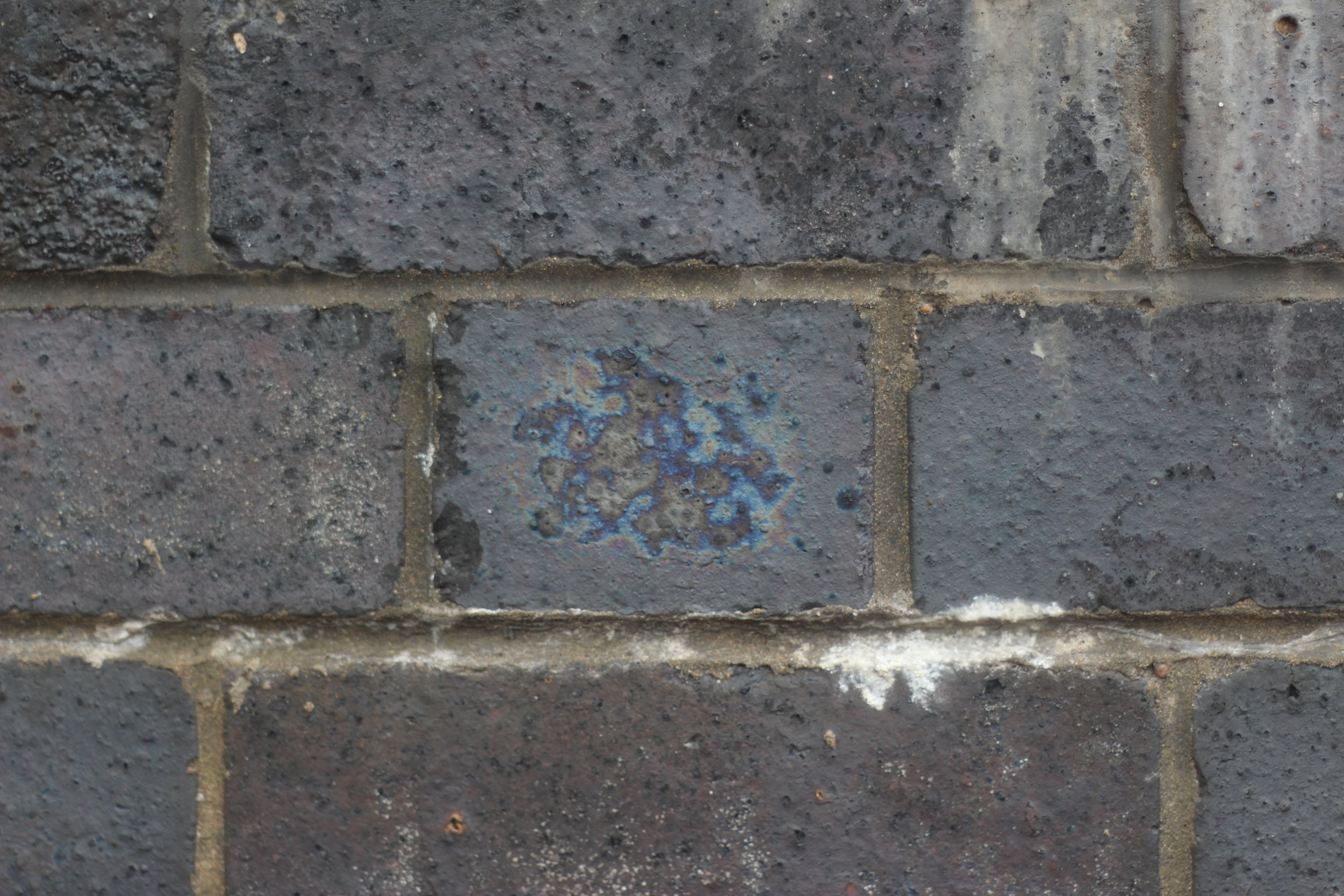 If you look closely at the blue brick walls surrounding the Coventry Ring Road you can see all sorts of beautiful patterns in the bricks.
