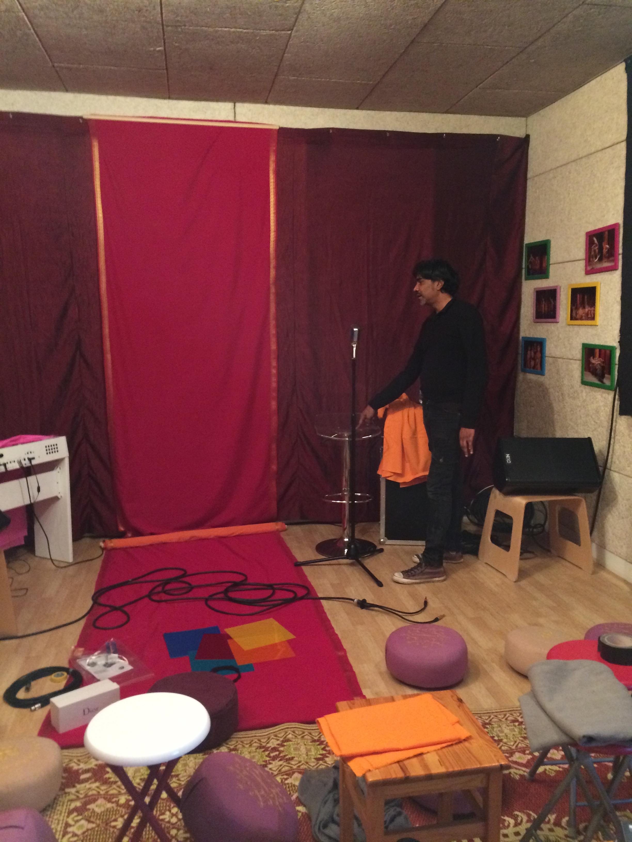 La technique ...on transforme le Padma en salle de concert