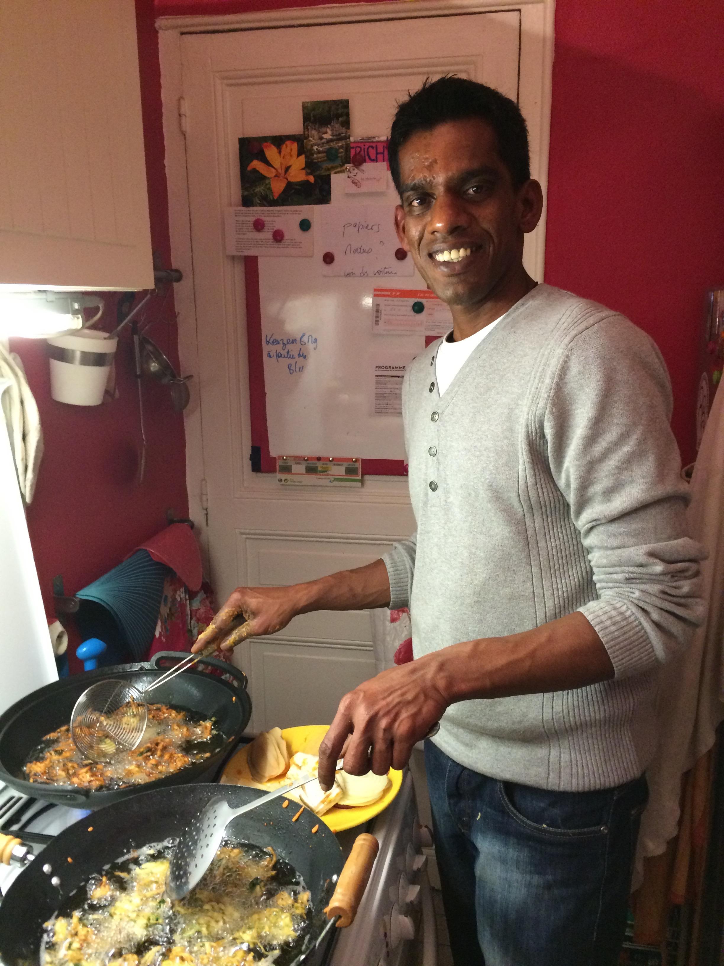 Rajaram en cuisine !