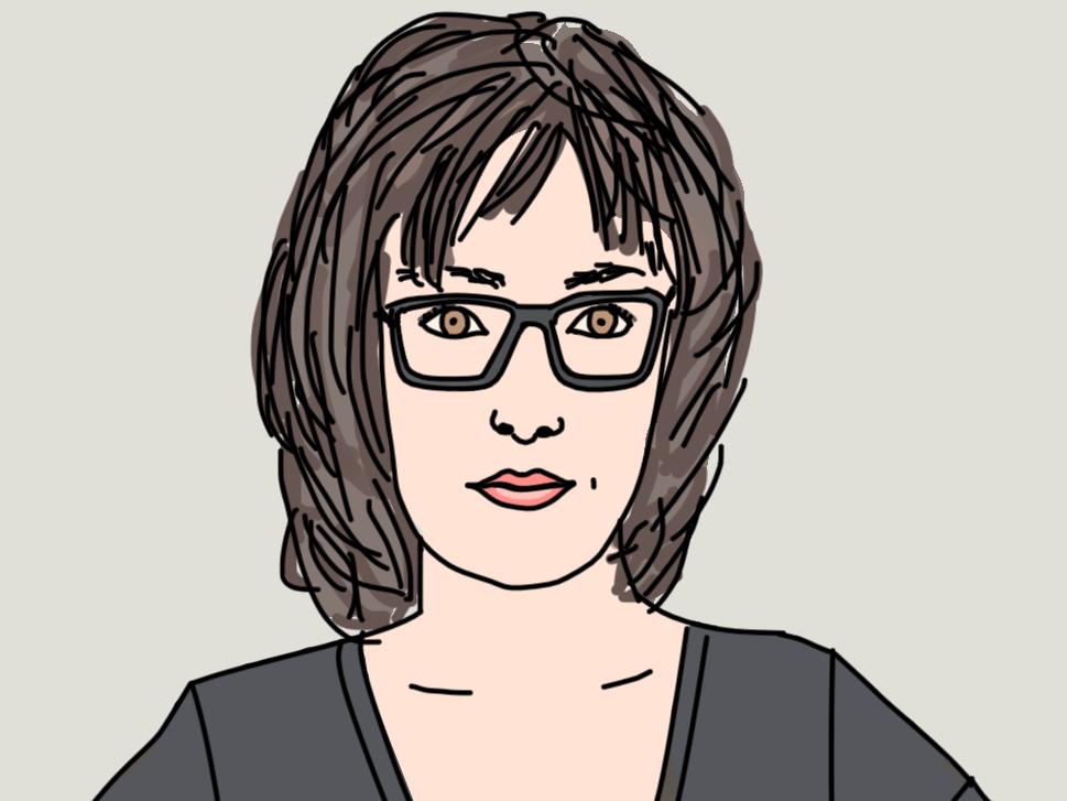 Portrait:  Franziska Panter . Diese Grafik wurde nach einem Foto von mir angefertigt. Ich habe das letztes Jahr bei einem 'Unternehmerinnen-Adventkalender' gewonnen und endlich einen Blogartikel gefunden, bei dem ich sie gut verwenden kann.