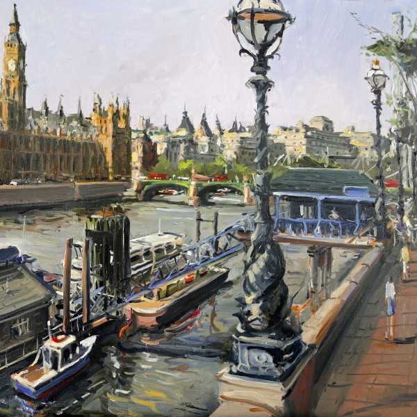 Palace of Westminster, oil on canvas, 100 x 80 cm