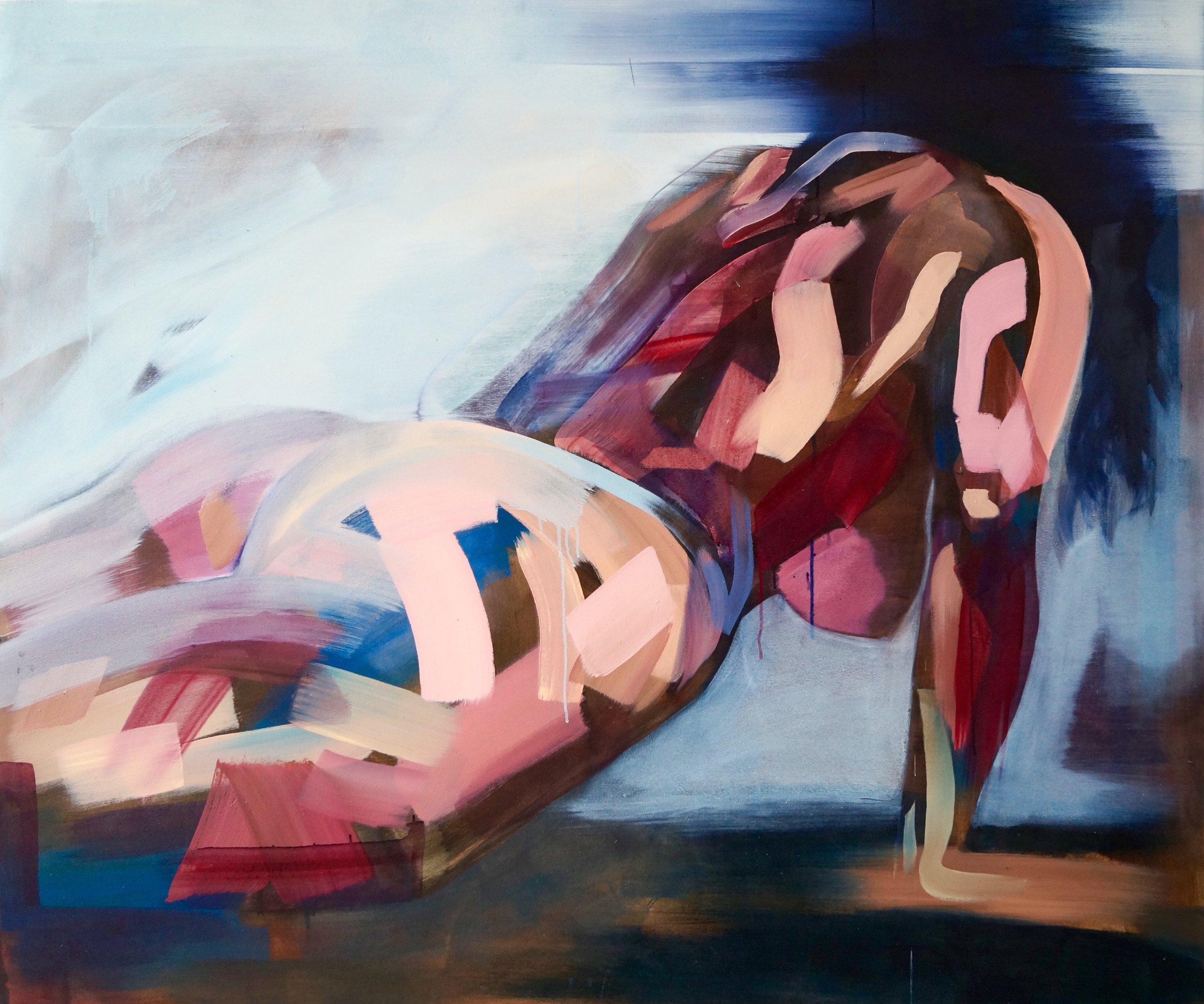 Climb, oil on canvas, 125 x 150 cm