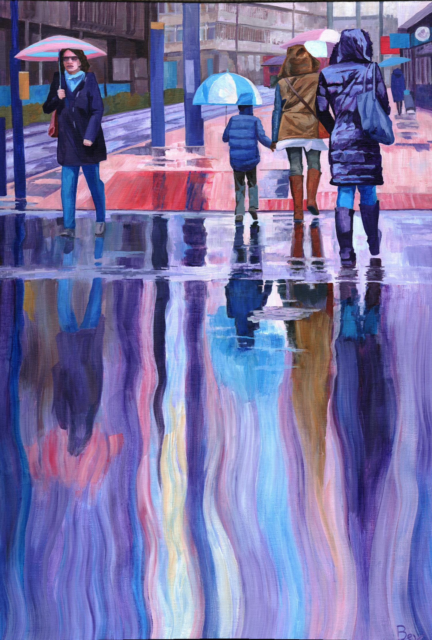 Rain Spirits, Acrylic on canvas