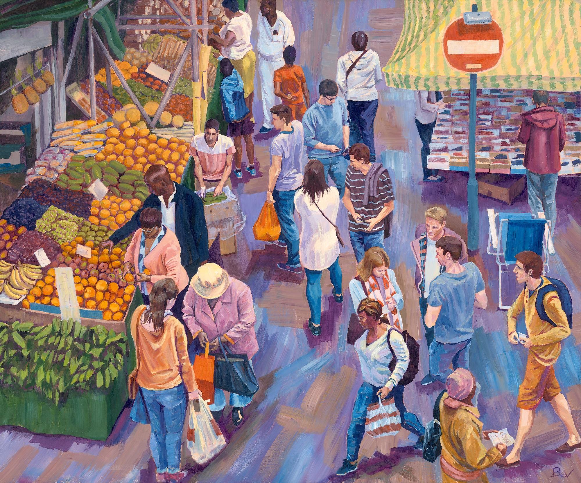 Overlooked, acrylic on canvas. 65 x 55 cm £900