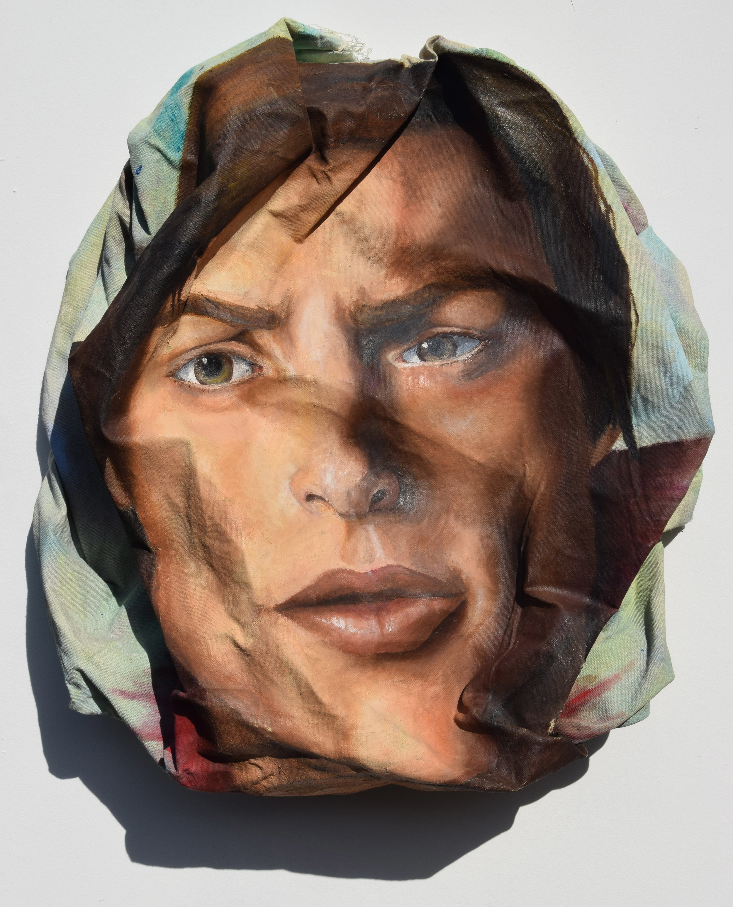 Unmasked man,2015  Oil on canvas   54 x 54 cm  £600