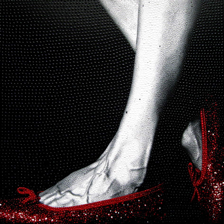 Oz, Shoes 9, 2010.Dotting on digital print. 50 x 50 cm £900