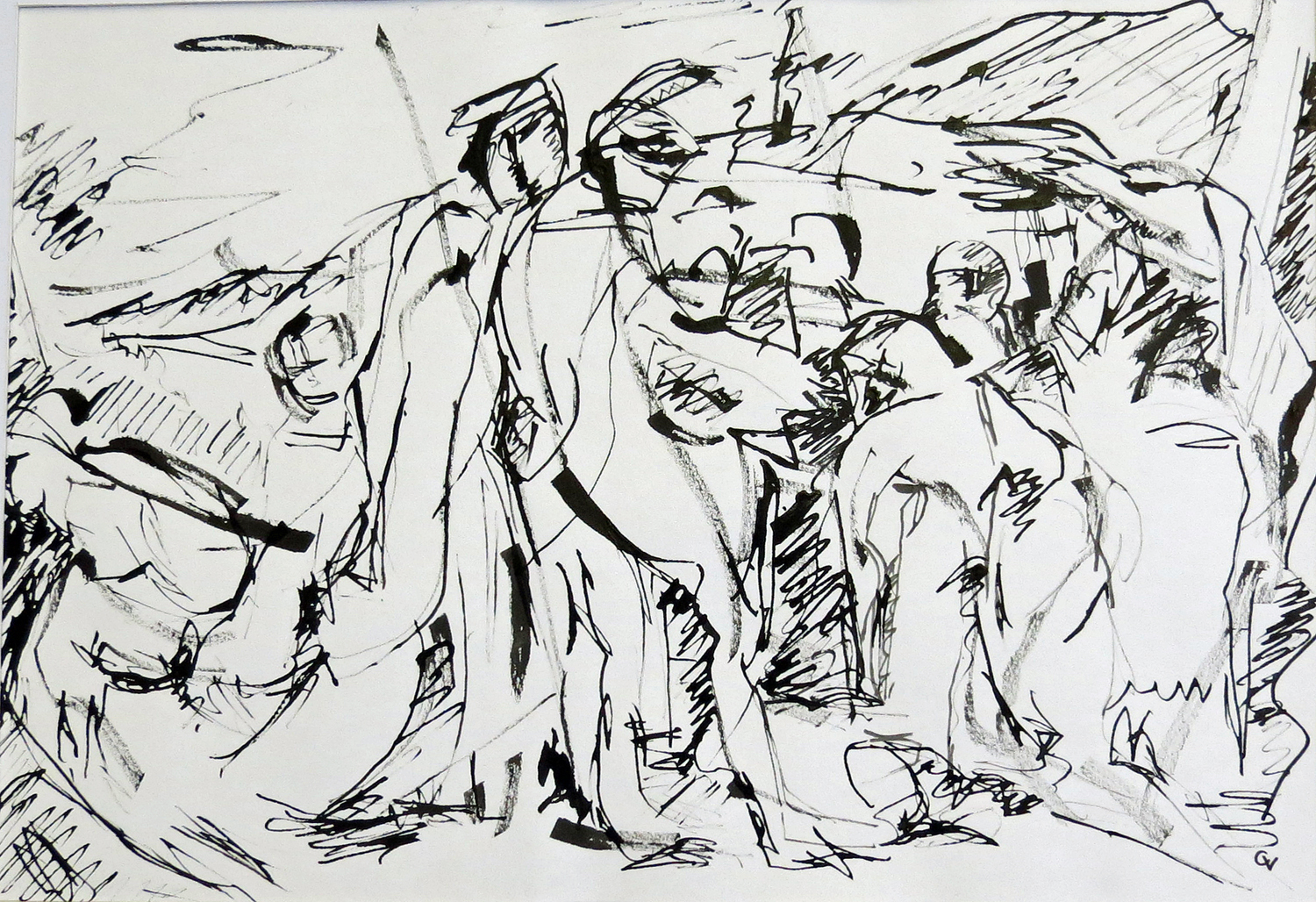 Tender Farewell  Ink on Paper | 40 x 28 cm | £380