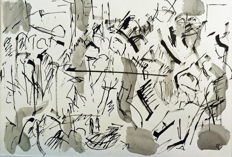 Celebration  Ink on Paper  40 x 28 cm   £380