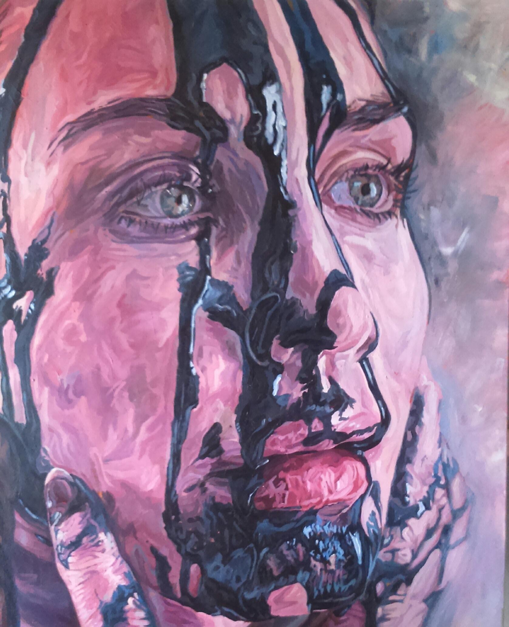 Waste  Acrylic on canvas | 81 x 100 cm (framed) |£1,500