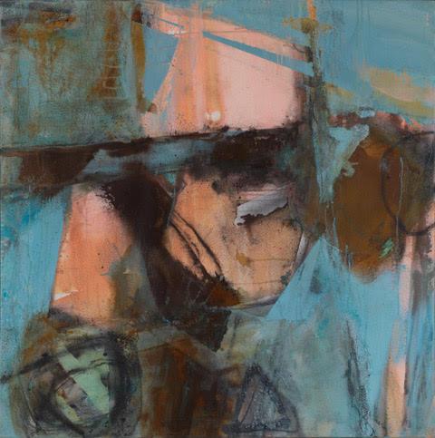 Blue Hills Tin |2017 |Mixed media on canvas |100 x 100cm | £3200