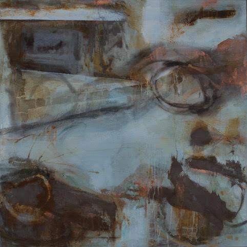 Geevor II, 2017 |Mixed media on canvas | 120 x 120cm | £3800