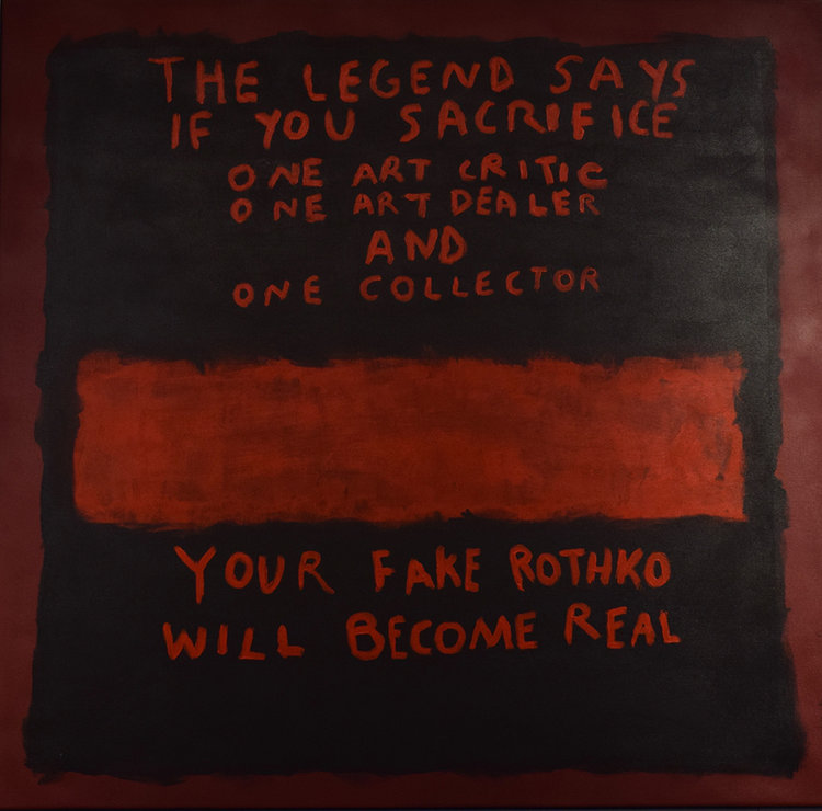 """CB HOYO """"The Legend of a Fake Rothko"""", 2017. Found at the Imitate Modern Gallery"""