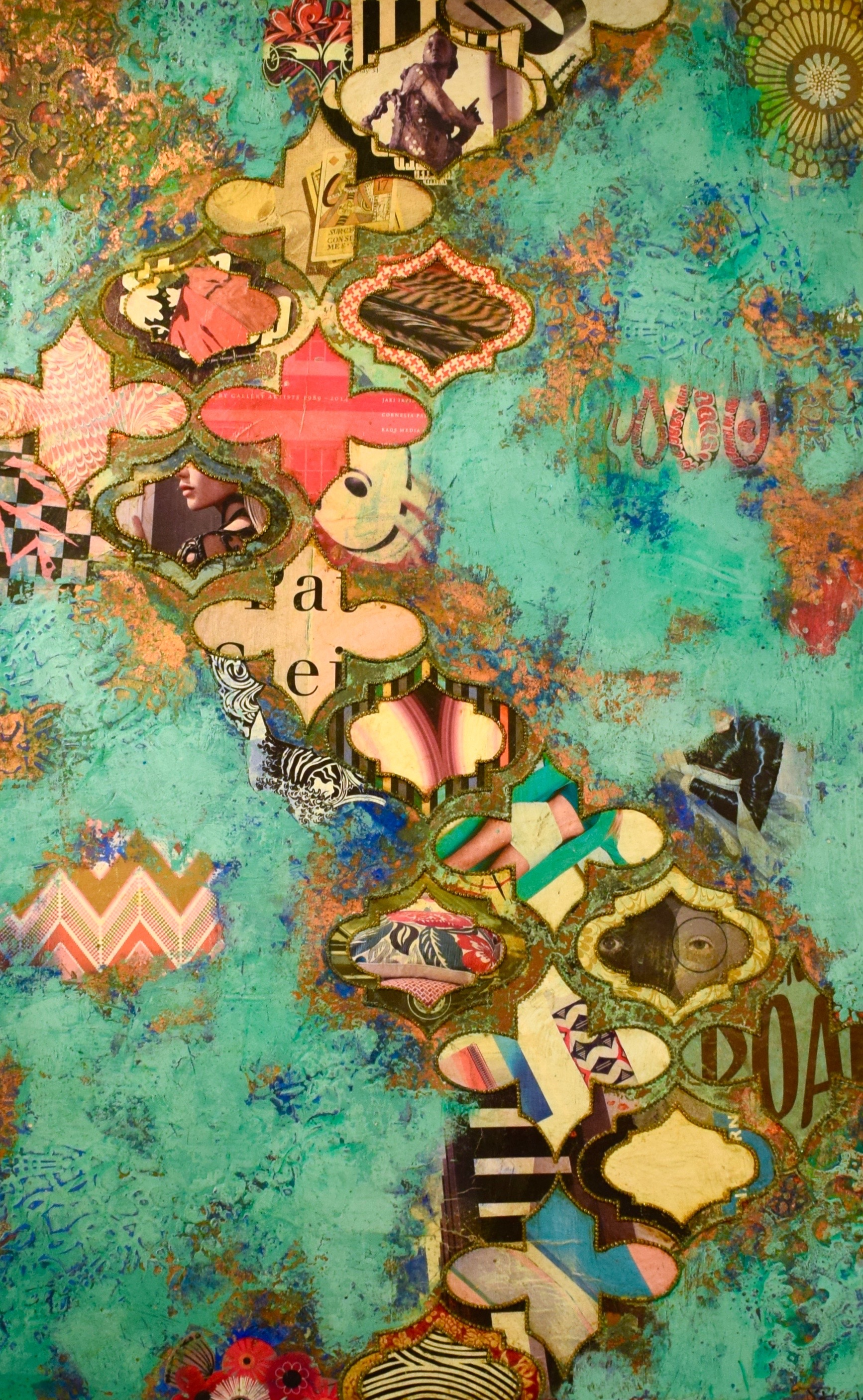 """Jill Ricci's """"Beyond the Blue"""" Mixed media on canvas. £3,050. Presented by the Smithson Gallery at stand J7"""