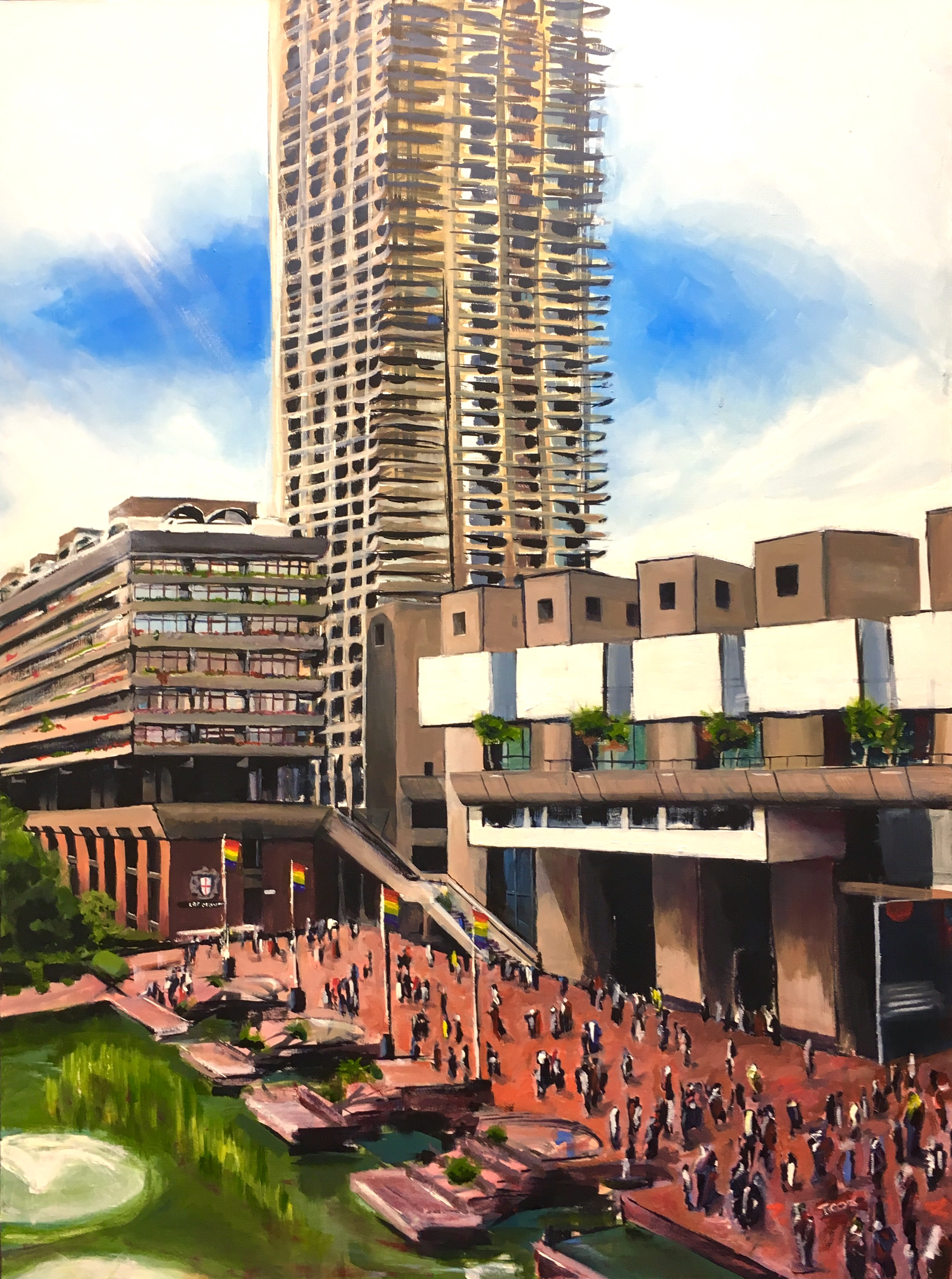 Beautiful Brutalism. Ink and oil on canvas. 3 x 4 ft. £1,950.jpg
