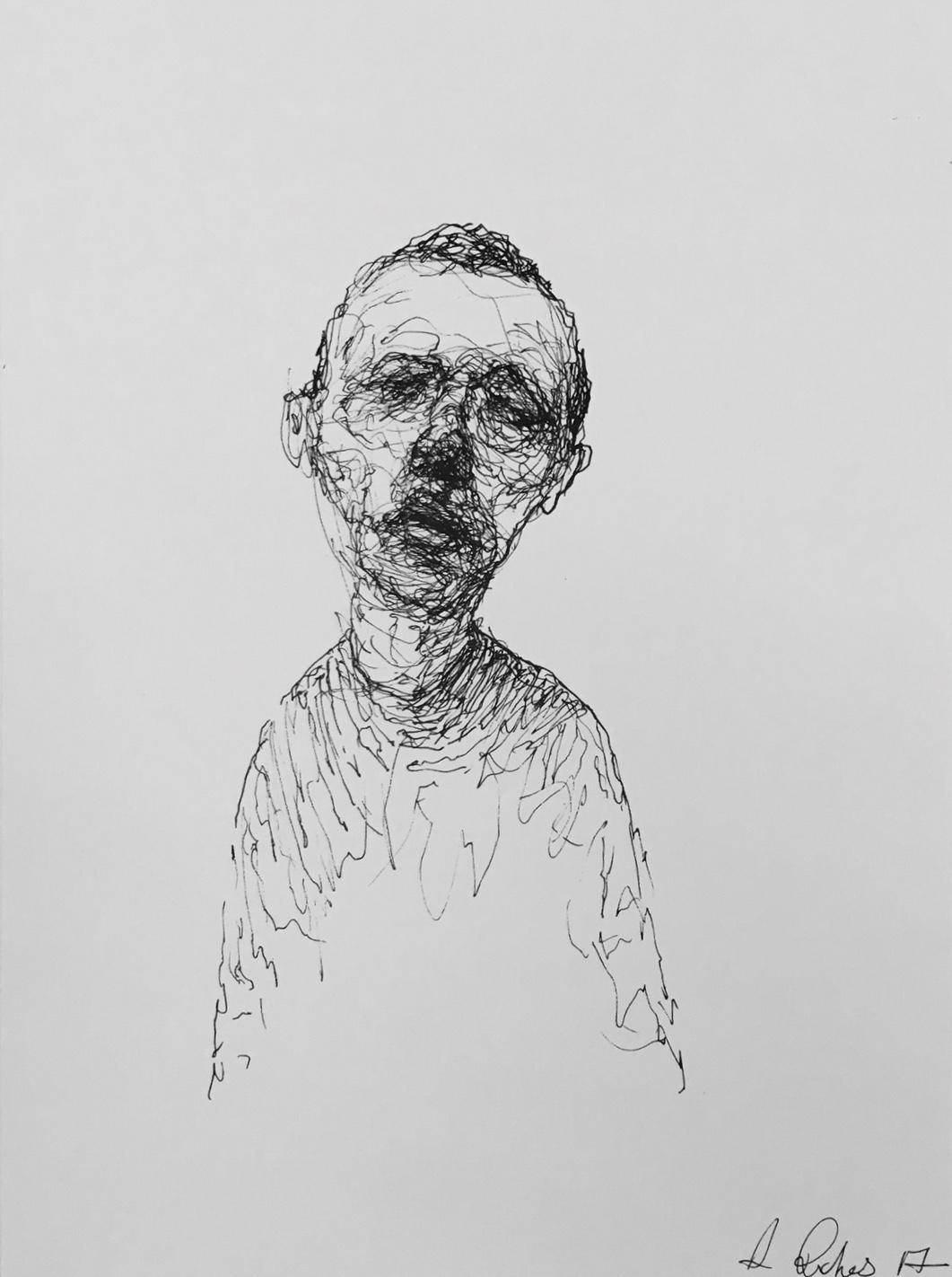 Untitled, 2017 | Pen on paper |28.8 x 21 cm