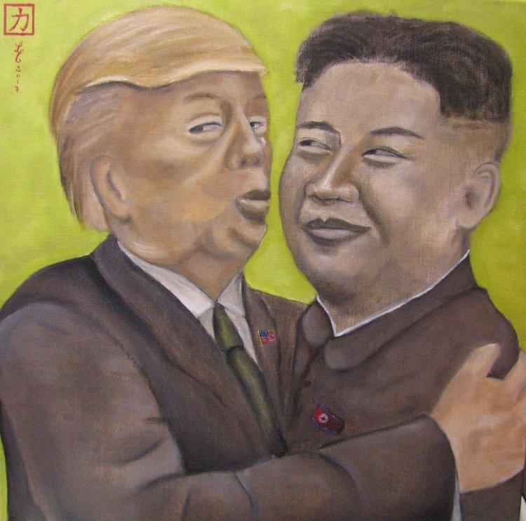 The Kiss, 2017 | Oil on canvas |60 x 60 cm | £700