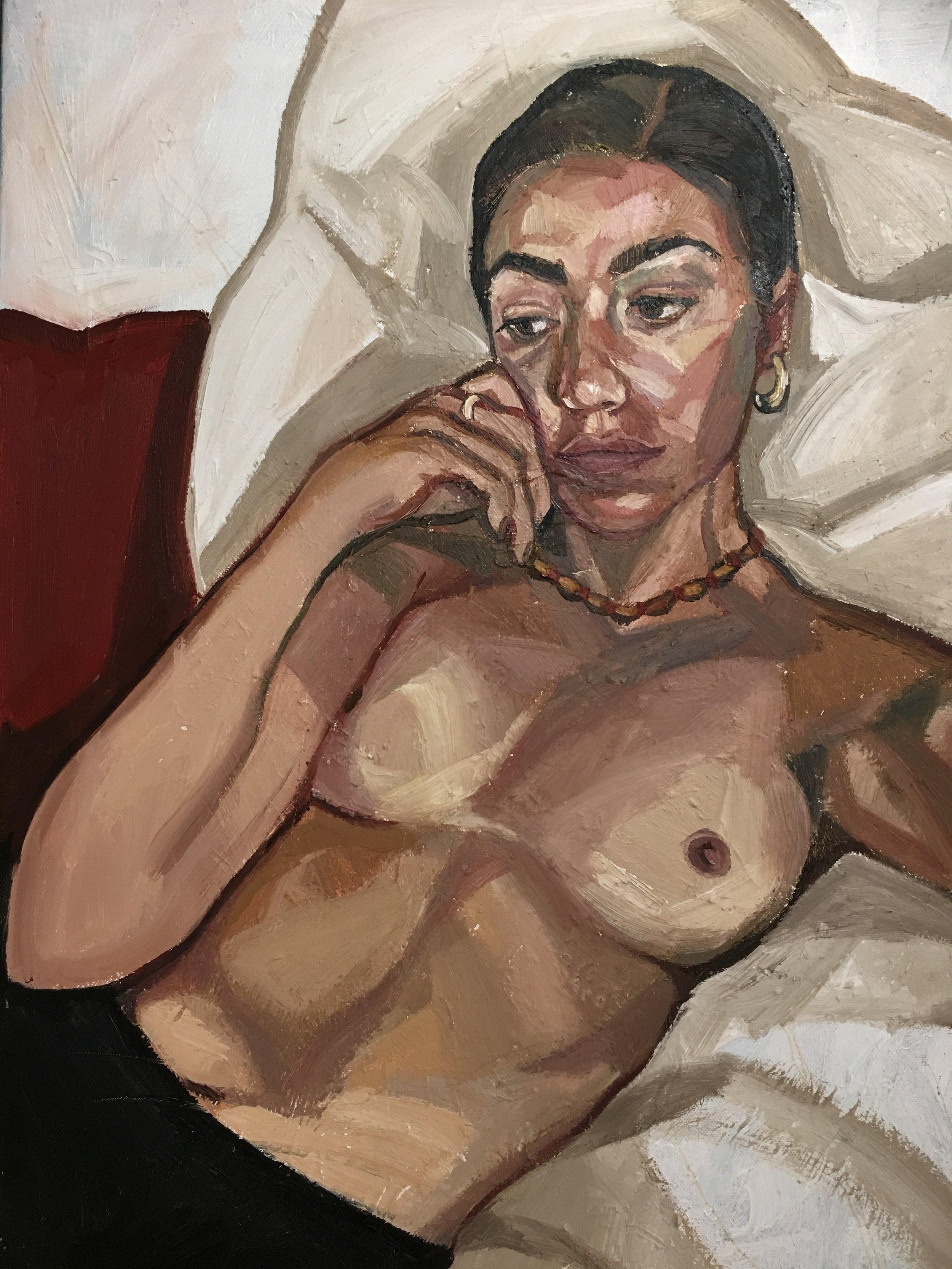 Nude, 2017 | Oil on canvas |81 x 61 cm |£900