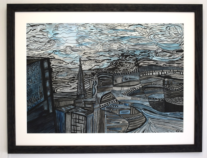 """""""The moonlight may brighten up the city but the darkness conceals its mystery.""""  City After Dark, 2013 