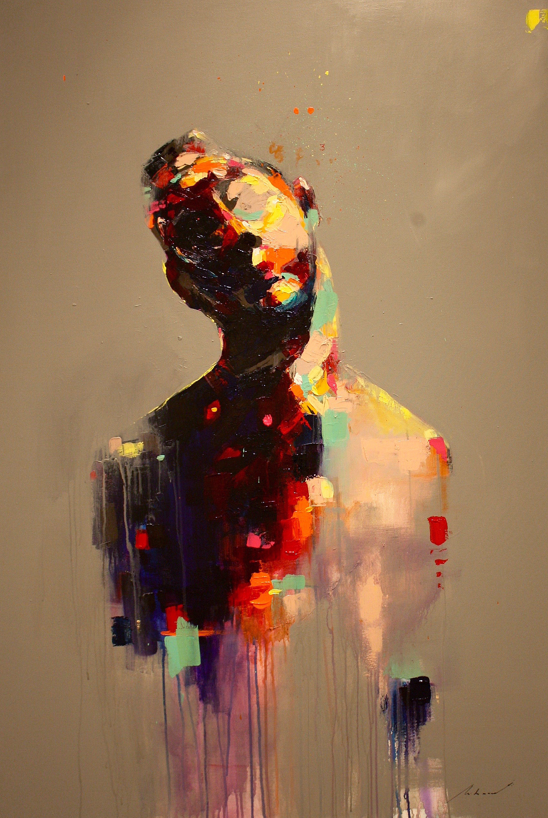 O Artista 3, 2018   Acrylic on canvas   140 x 90 cm   R$ 7,560