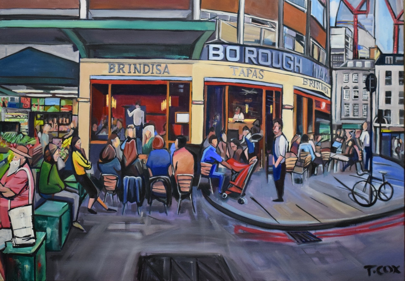 Brindisa, 2018 | Ink & oil on canvas | 100 x 70 cm | £2,000