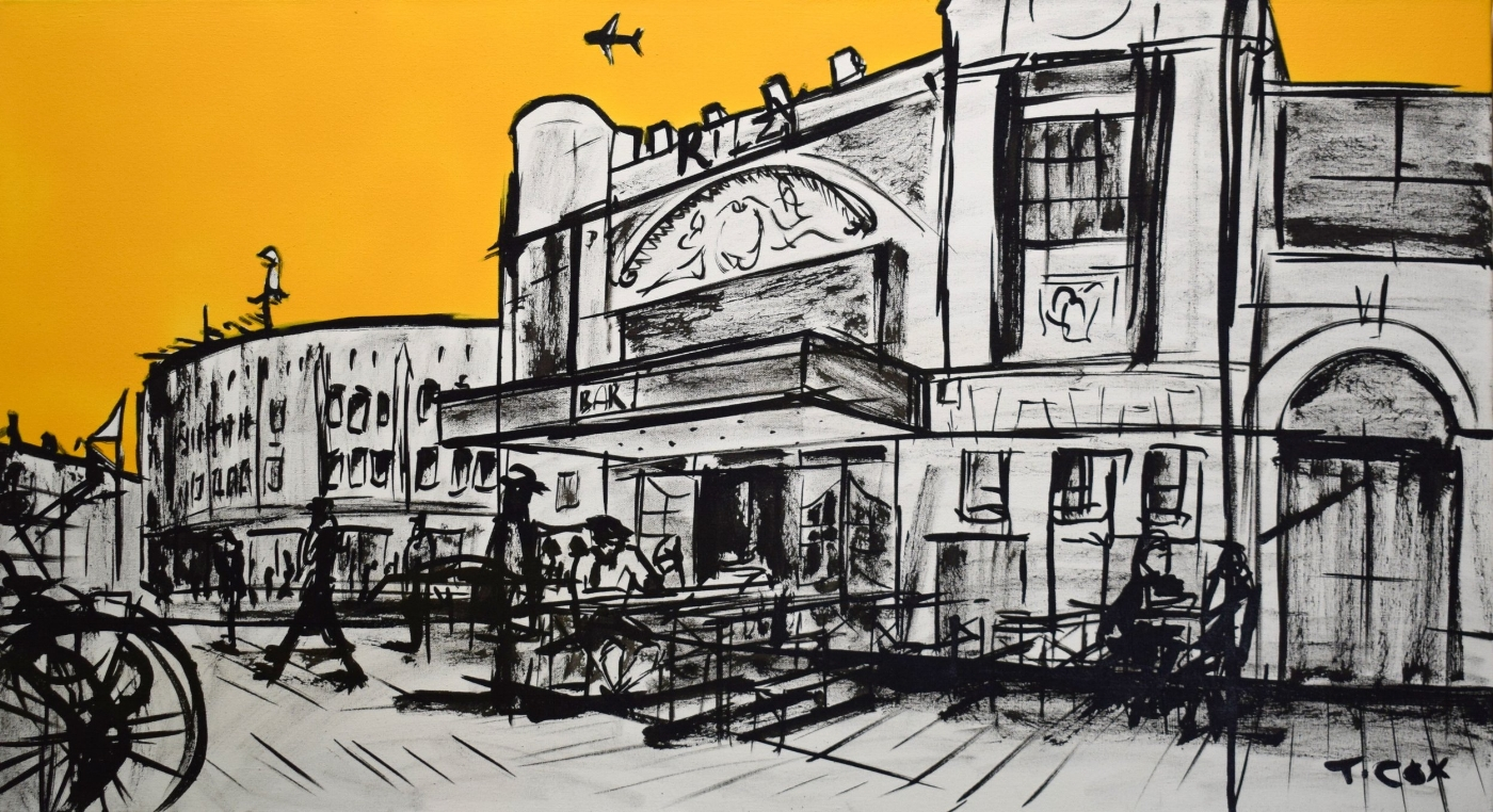 Brixton Perspetive, 2018 | Spray paint & Indian ink on canvas | 100 x 55 cm | £600