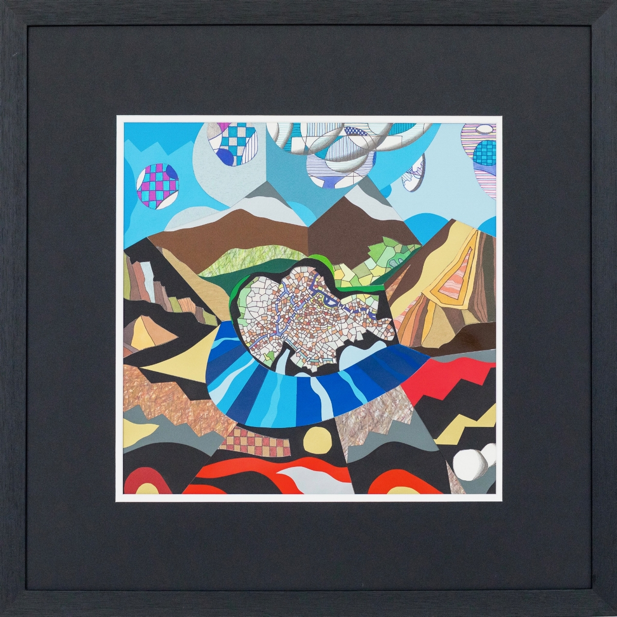 Valley Forty Eight 2018 | Mixed Media on Aluminium Panel | 65 x 65 cm (framed) | £650