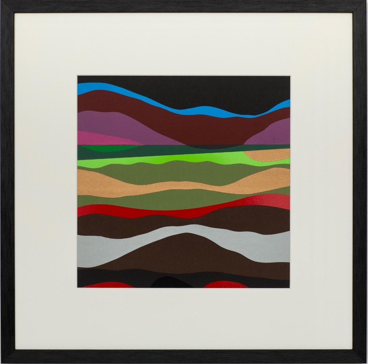Valley Fifty Eight 2018 | Mixed Media on Aluminium Panel | 50 x 50 cm (framed) | £300