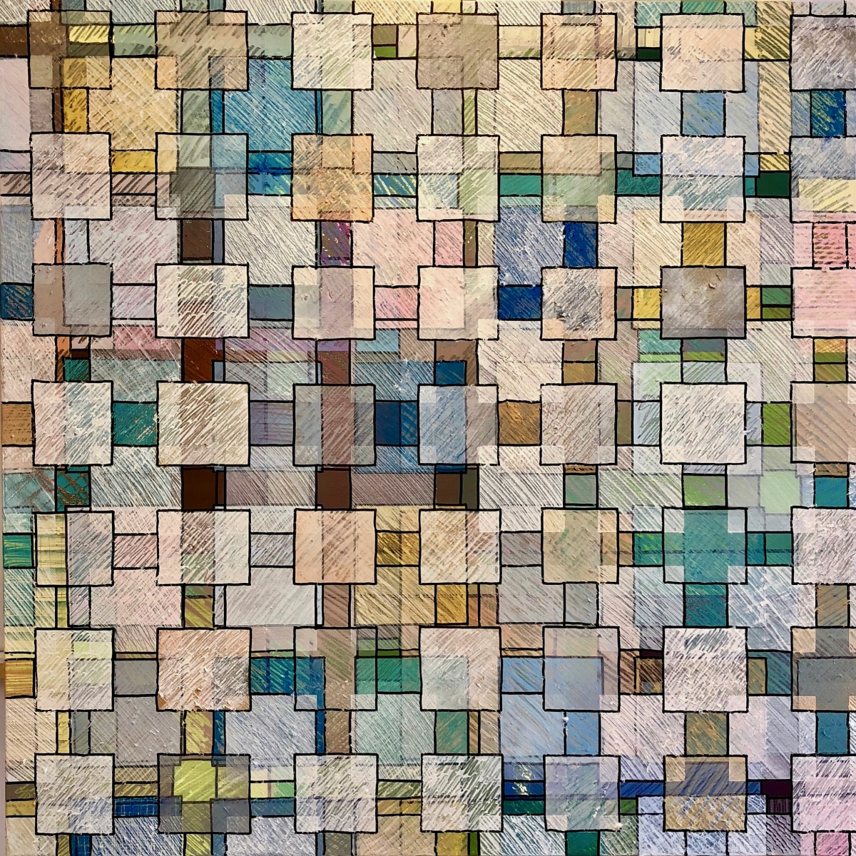 Grid Two, Cloud Grid 2018 | Ink on Paper | 91 x 91 cm (framed) | £850