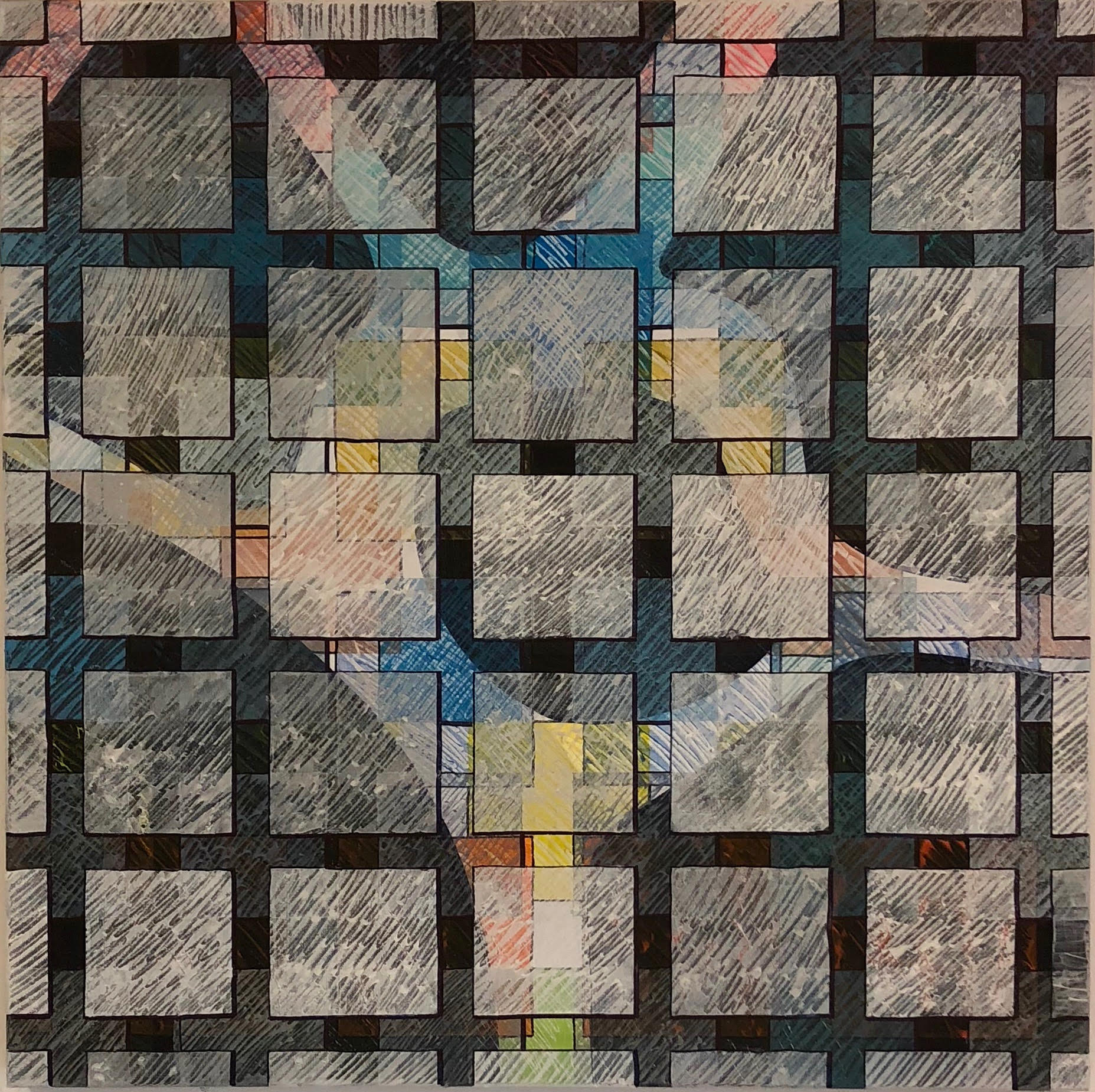 Elephant & Castle, 2018 | Mixed Media on Canvas | 80 x 80 cm | £750 (framed)