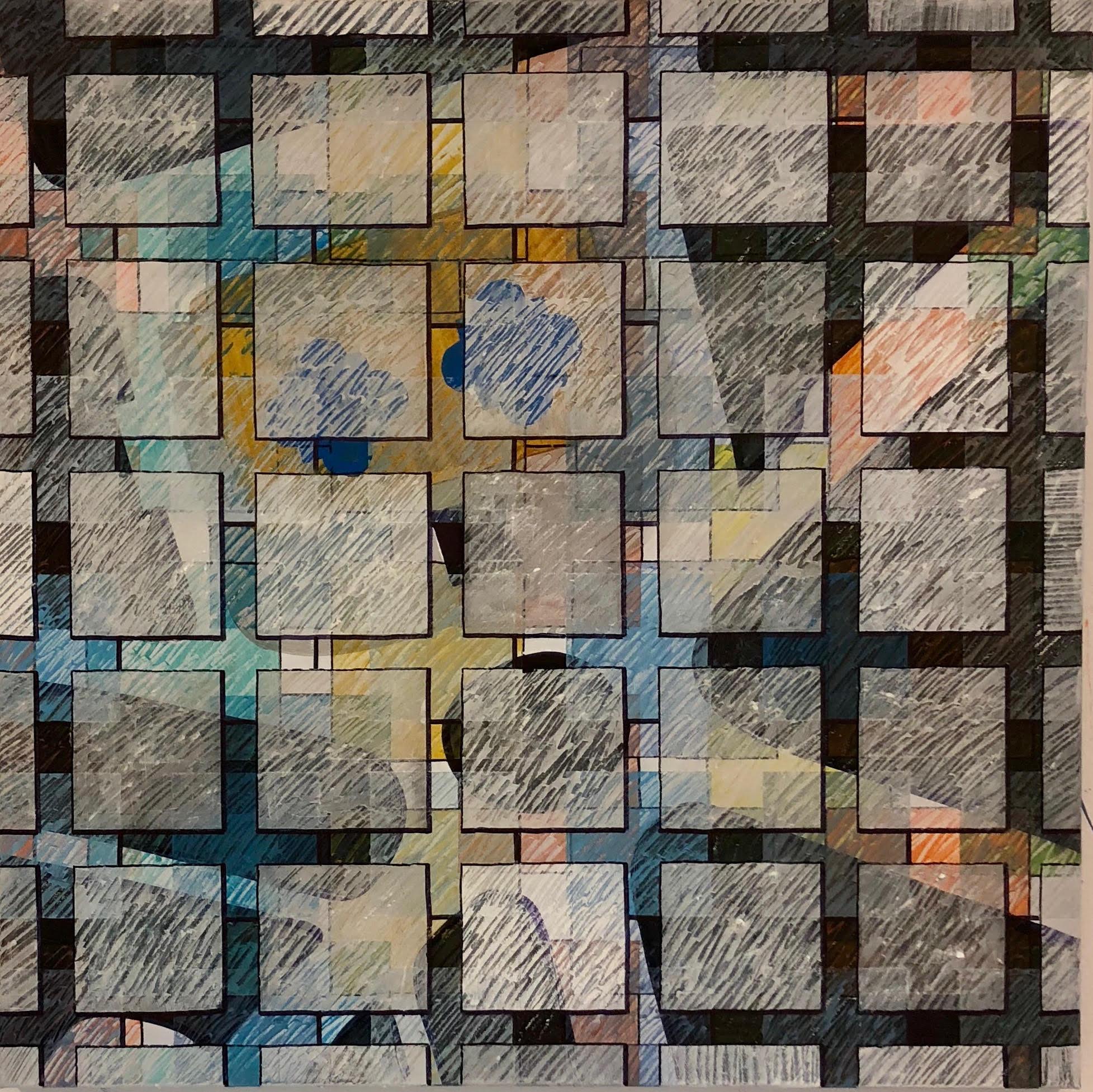 Trafalgar Square, 2018 | Mixed Media on Canvas | 80 x 80 cm | £750 (framed)