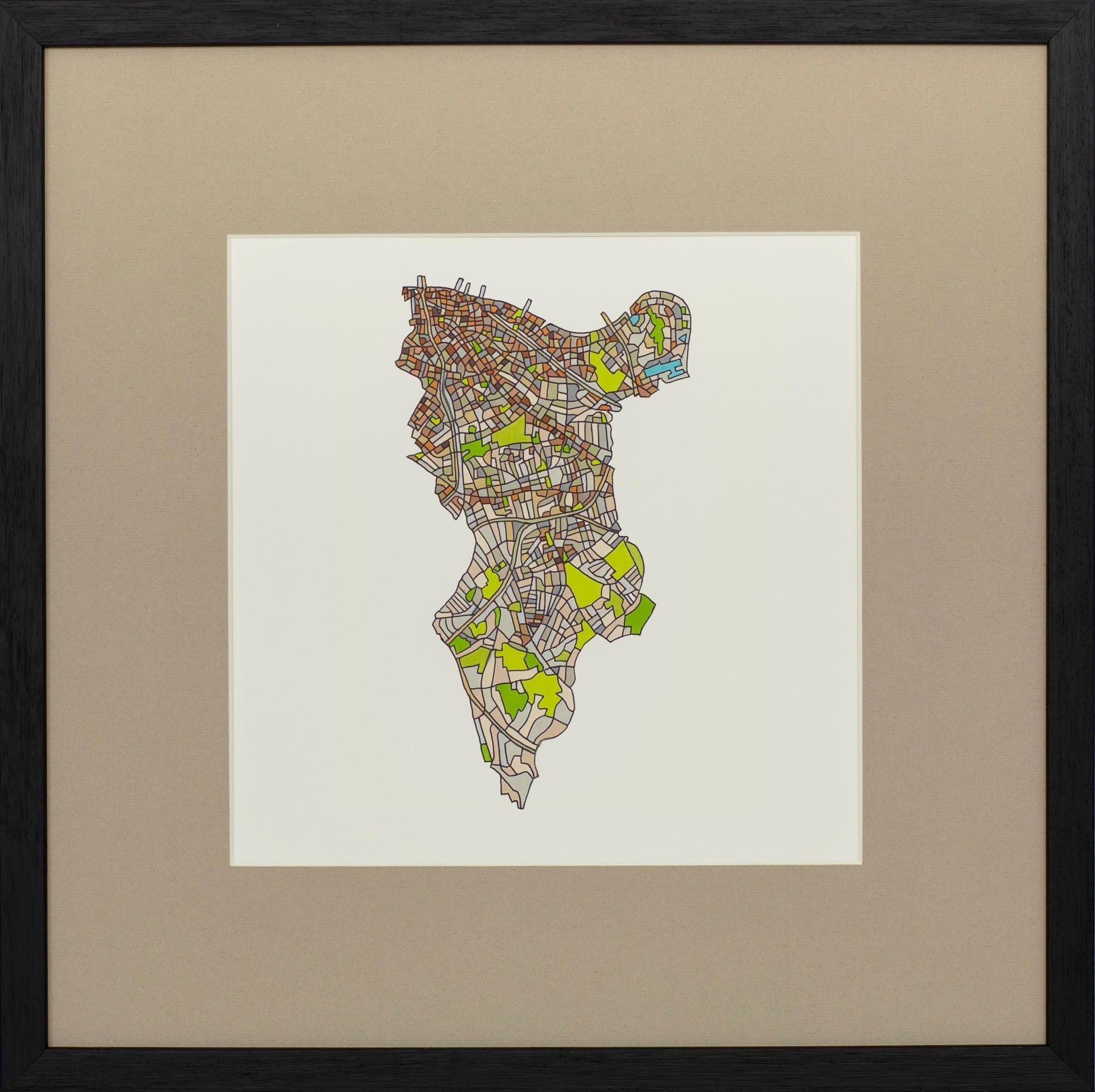 London Borough of Southwark, 2018 | Ink on Paper | 44 x 44 cm | £450 (framed)
