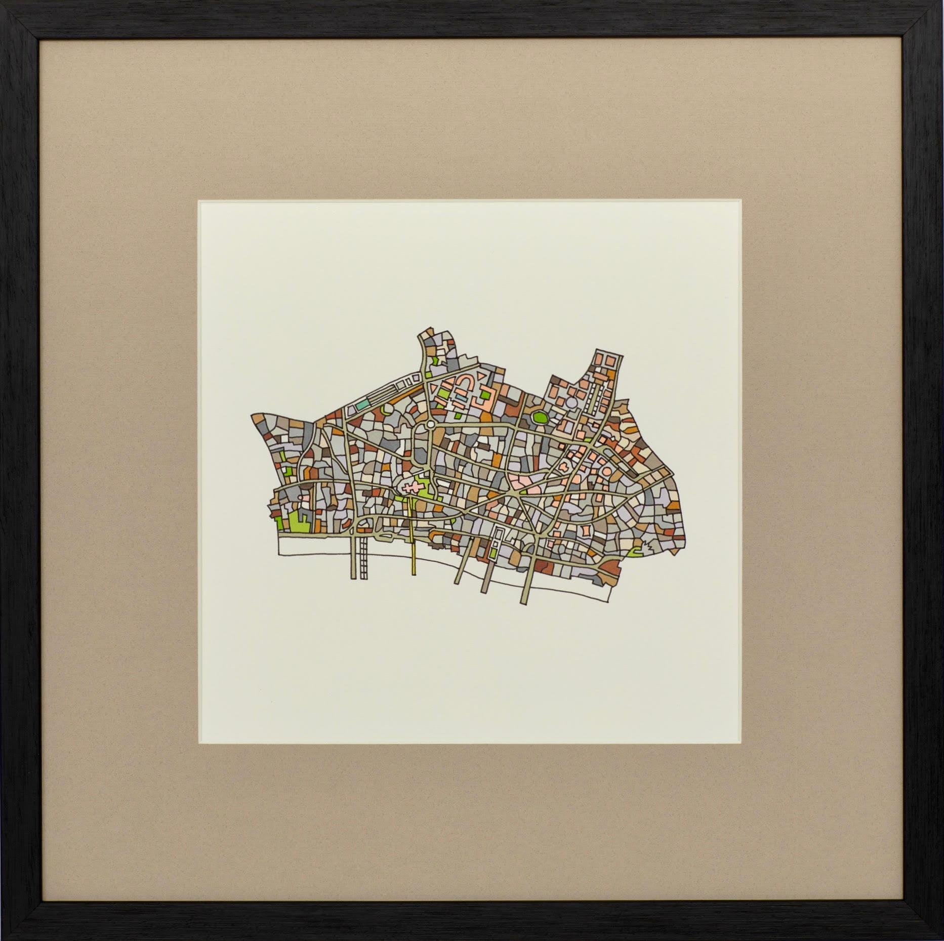 City of London, 2018 | Ink on Paper | 44 x 44 cm | £450 (framed)