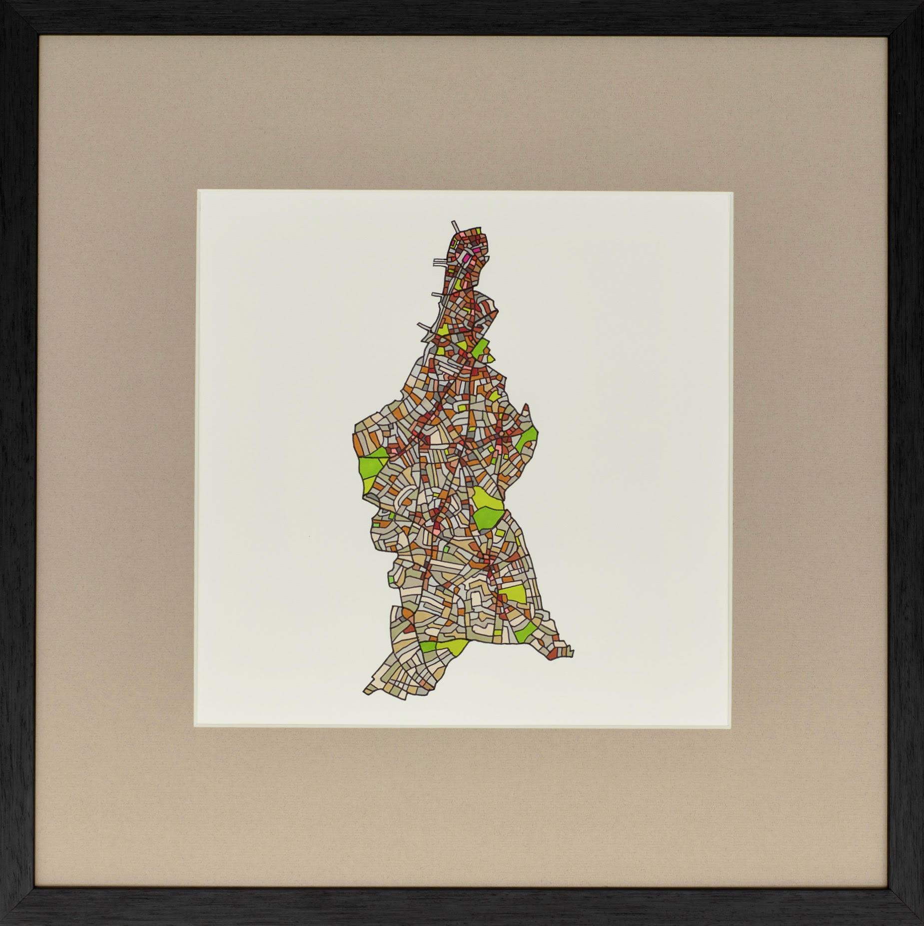 London Borough of Lambeth, 2018 | Ink on Paper | 44 x 44 cm | £450 (framed)