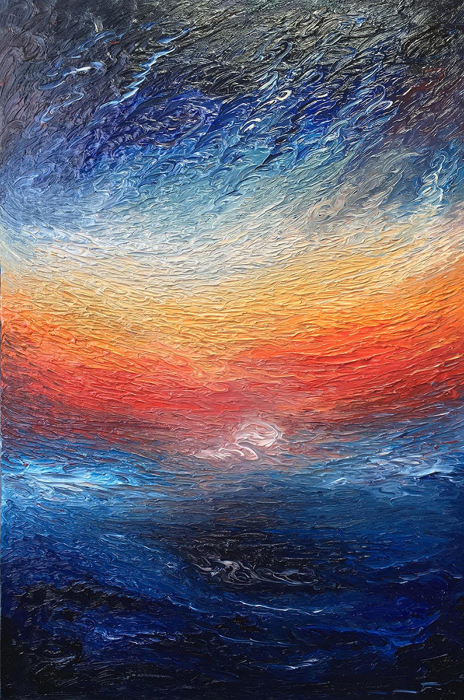 Neon Noon, 2018 | Oil on canvas | 60 x 90 cm | £950