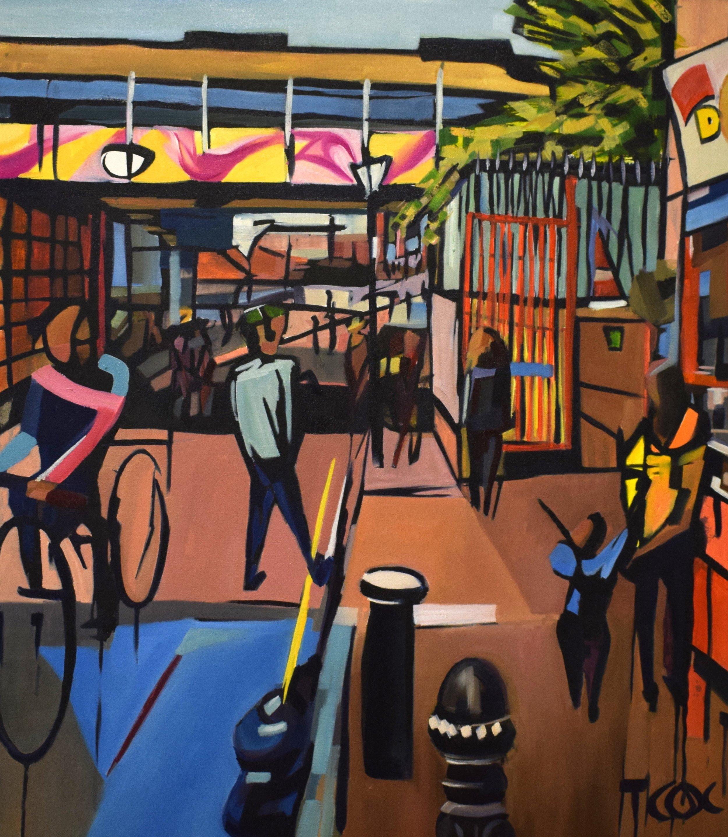 Portobello Paradise, 2018 | Ink & oil on canvas | 70 x 80 cm | £1,250