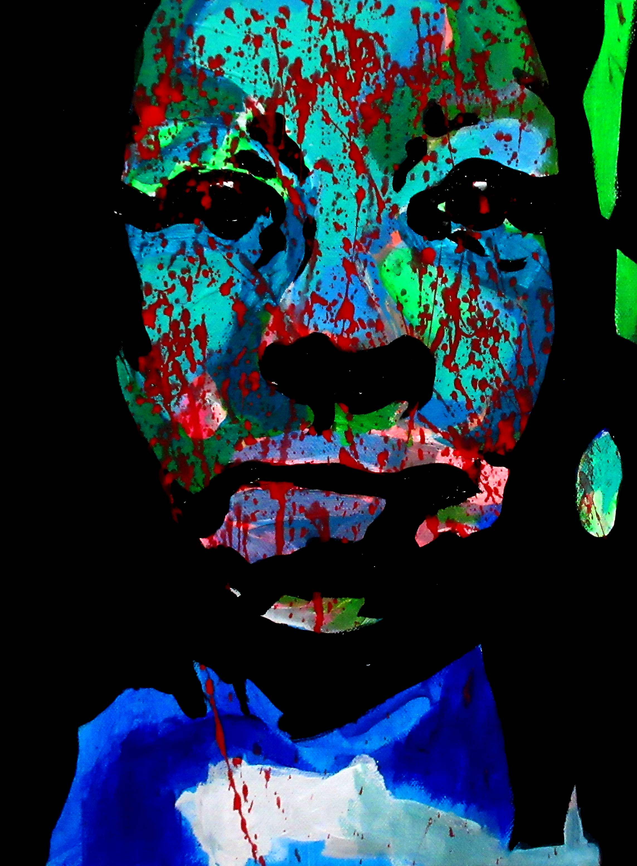 Mami Wata, 2018 | Mixed media on canvas | 40 x 25 cm | £220