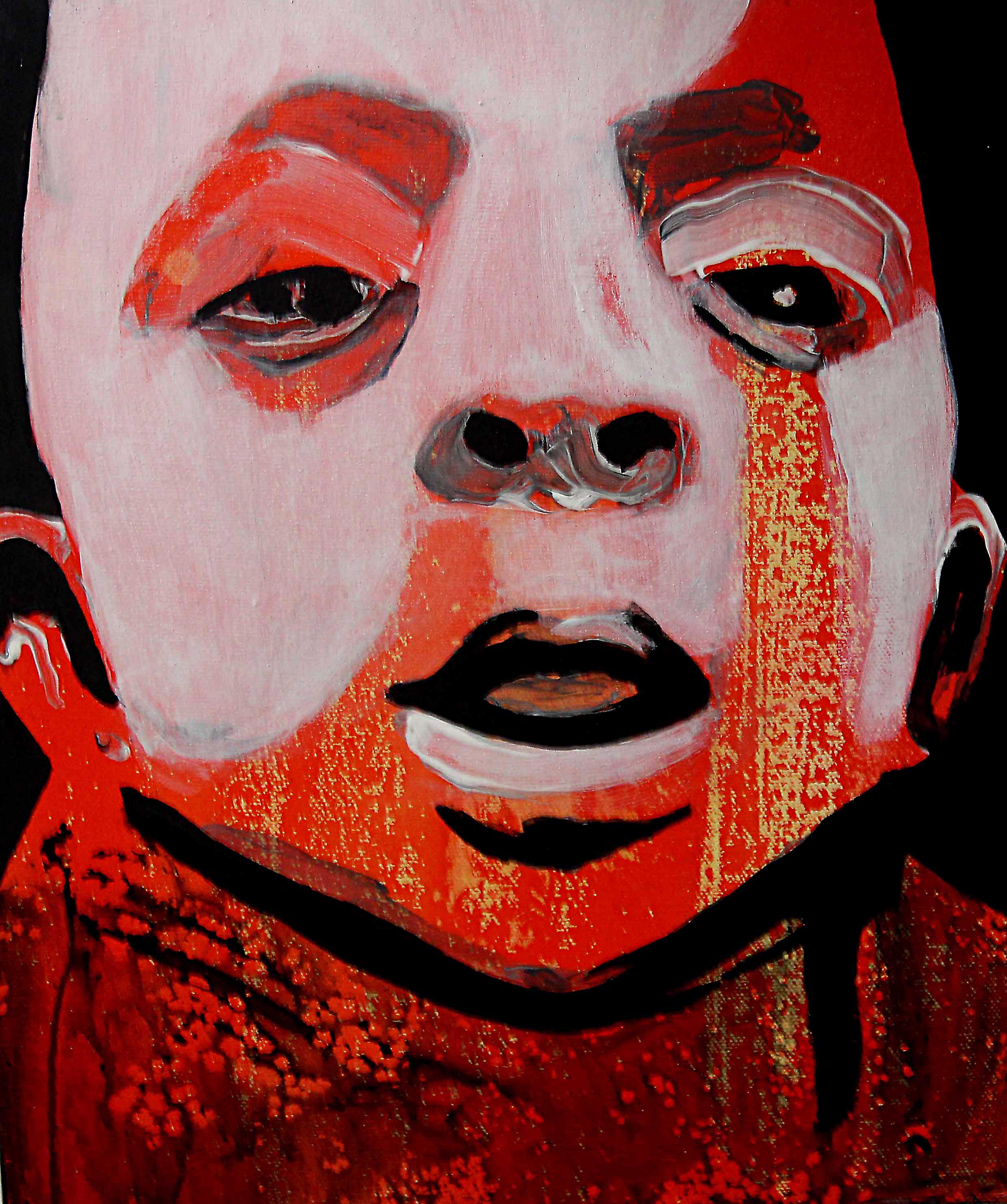 Bundao, 2018 | Mixed media on canvas | 40 x 30 cm | £220