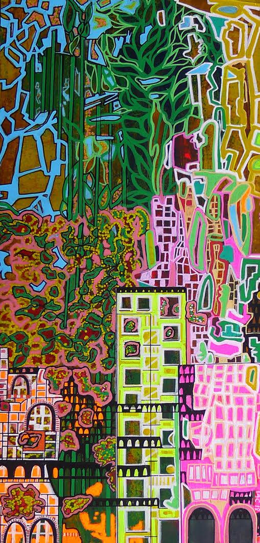 Cidade I, 2018 | Mixed media on wood | 45 x 24 cm | £550