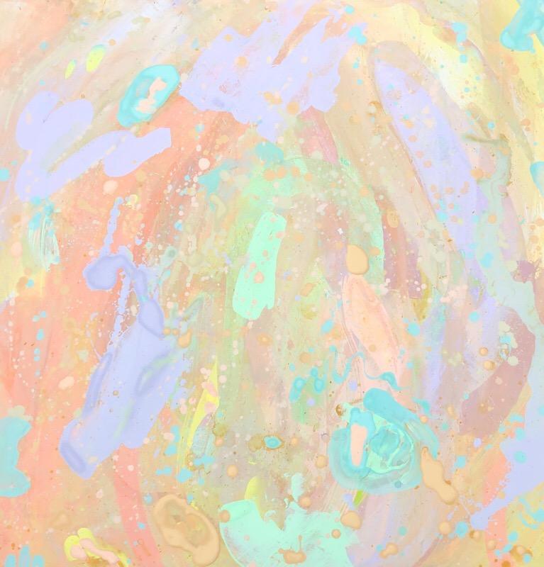 Untitled, 2018   Oil, Acrylic & Pastel on Plywood   92 x 92 cm   £680