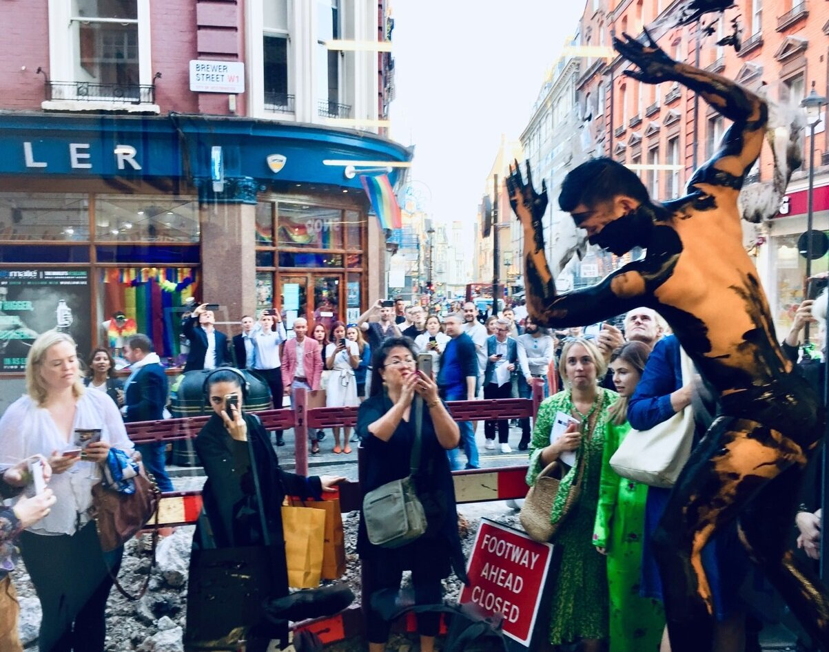 Gaze performance in Old Compton Street