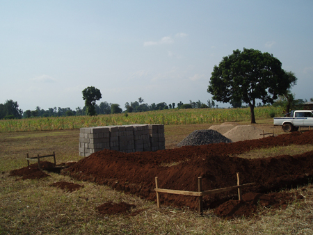 Progress on the foundations of our first building.