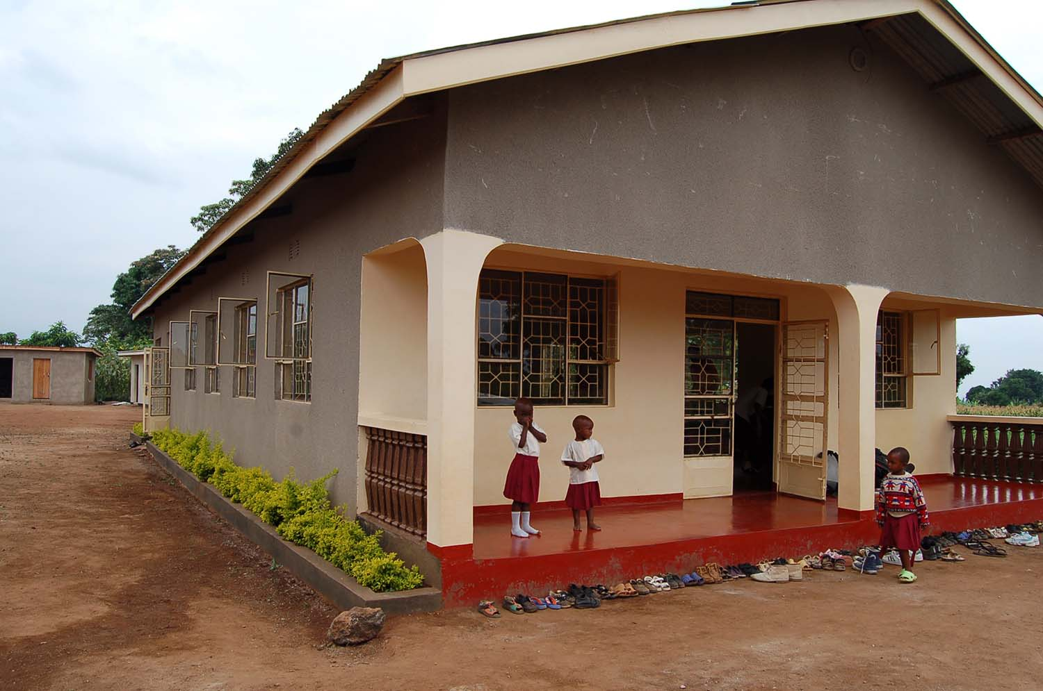 First classroom block is completed.