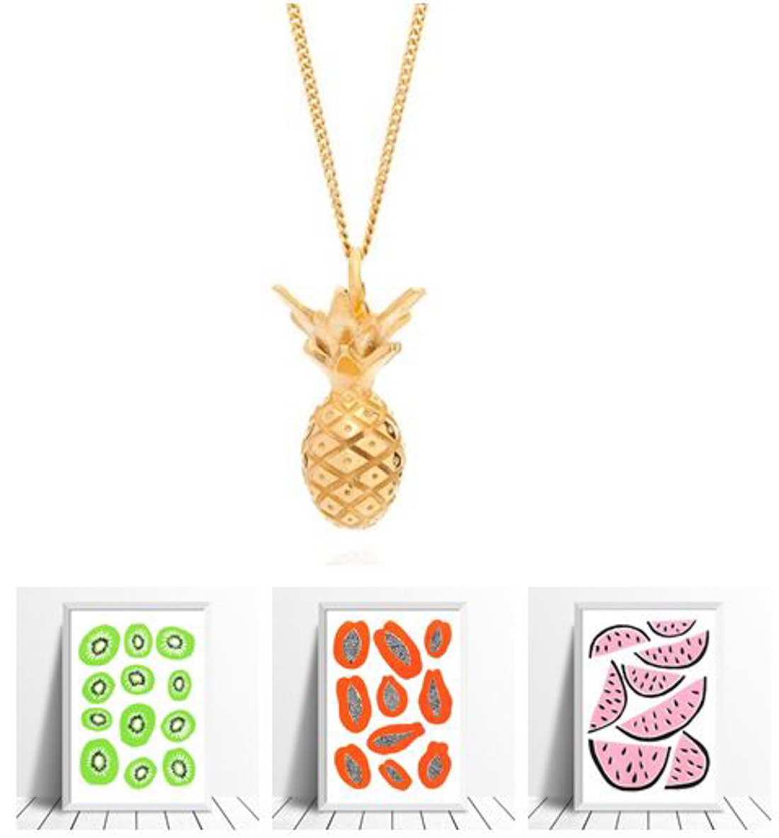 Pineapple necklace Lee Renee